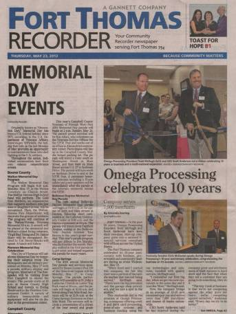 Recorder front page article