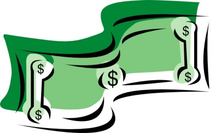 Cartoon dollar bill image