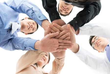 huddle handshake